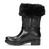 Czarne śniegowce damskie zfuterkiem bata, czarny, 592-6602 - 17