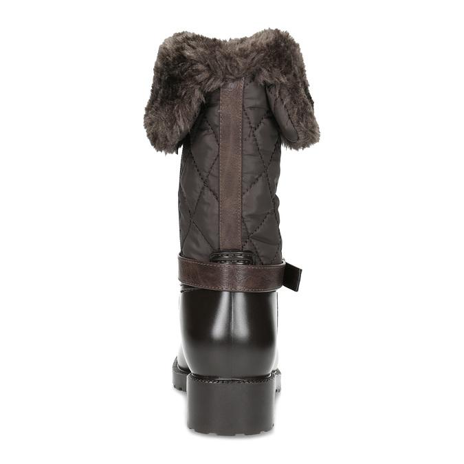 Brązowe śniegowce damskie zfuterkiem bata, brązowy, 592-4602 - 15