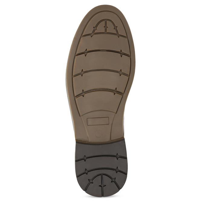 Brązowe obuwie męskie za kostkę, zelastycznymi wstawkami bata-red-label, brązowy, 821-3610 - 18