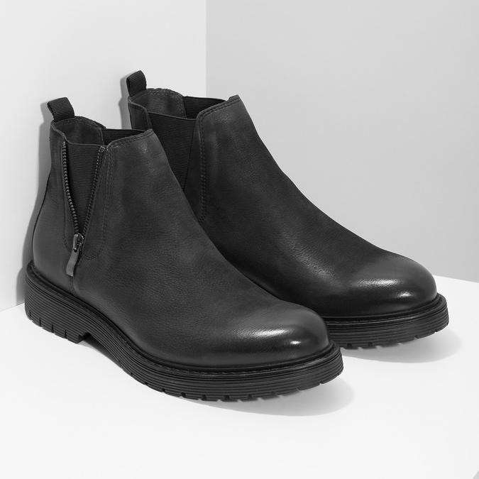Skórzane zimowe obuwie męskie typu chelsea bata, czarny, 896-6714 - 26