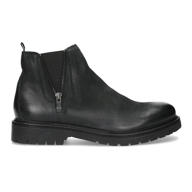 Skórzane zimowe obuwie męskie typu chelsea bata, czarny, 896-6714 - 19