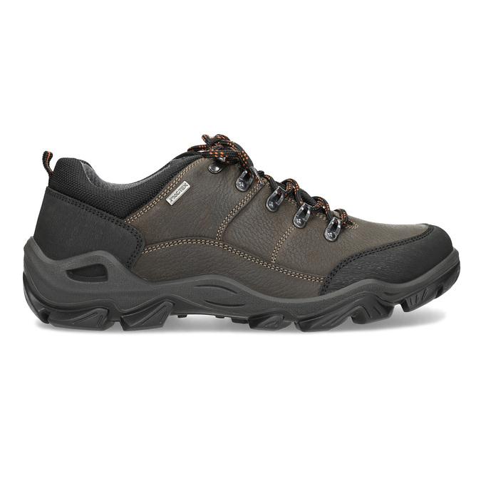 Skórzane obuwie męskie na grubej podeszwie weinbrenner, brązowy, 846-4806 - 19