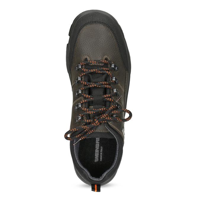 Skórzane obuwie męskie na grubej podeszwie weinbrenner, brązowy, 846-4806 - 17