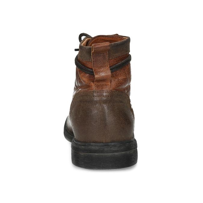 Brązowe skórzane obuwie męskie za kostkę bata, brązowy, 896-3717 - 15