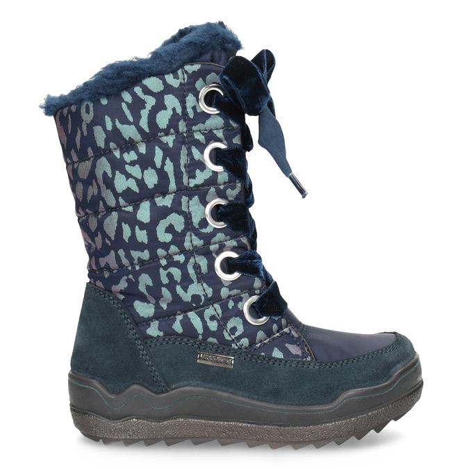 Śniegowce dziewczęce wpanterkę mini-b, niebieski, 299-9617 - 19