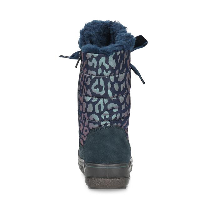 Śniegowce dziewczęce wpanterkę mini-b, niebieski, 299-9617 - 15