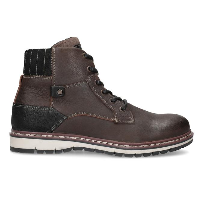 Skórzane obuwie męskie za kostkę bata, brązowy, 896-4666 - 19