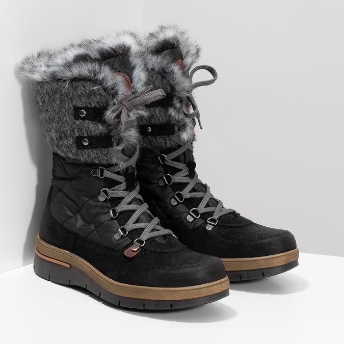 Czarne zimowe obuwie damskie zfuterkiem weinbrenner, czarny, 596-6755 - 26