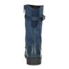 Zimowe granatowe kozaki dziewczęce ze skóry mini-b, niebieski, 394-9200 - 15