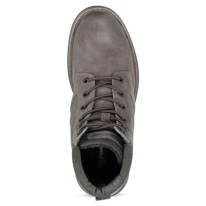 Szare skórzane obuwie męskie za kostkę weinbrenner, szary, 896-2693 - 17