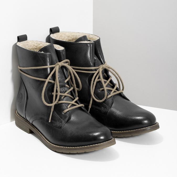 Granatowe botki zociepliną bata, niebieski, 596-9702 - 26