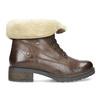 Skórzane botki damskie zfuterkiem bata, brązowy, 694-4669 - 19