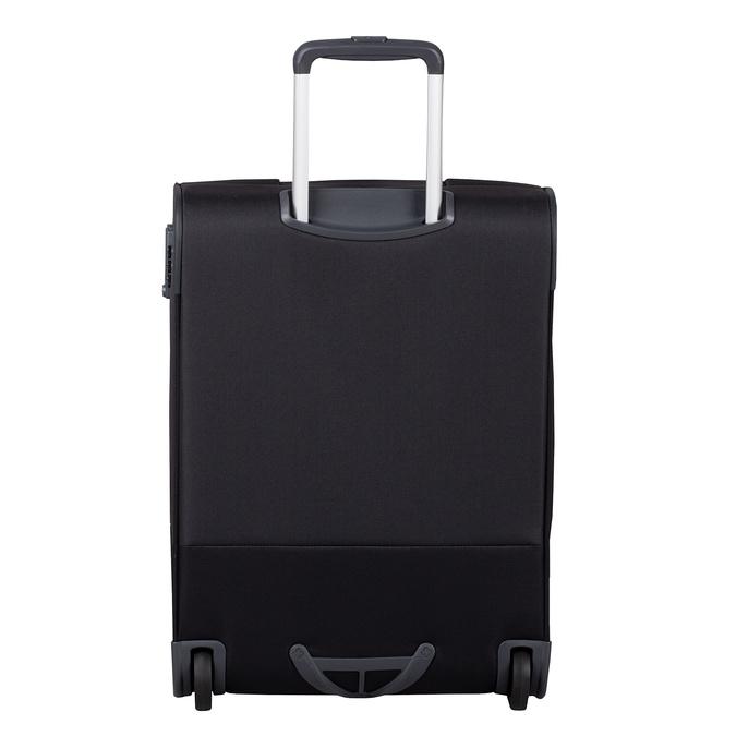 Czarna walizka na kółkach, zmateriału tekstylnego samsonite, czarny, 969-6618 - 26