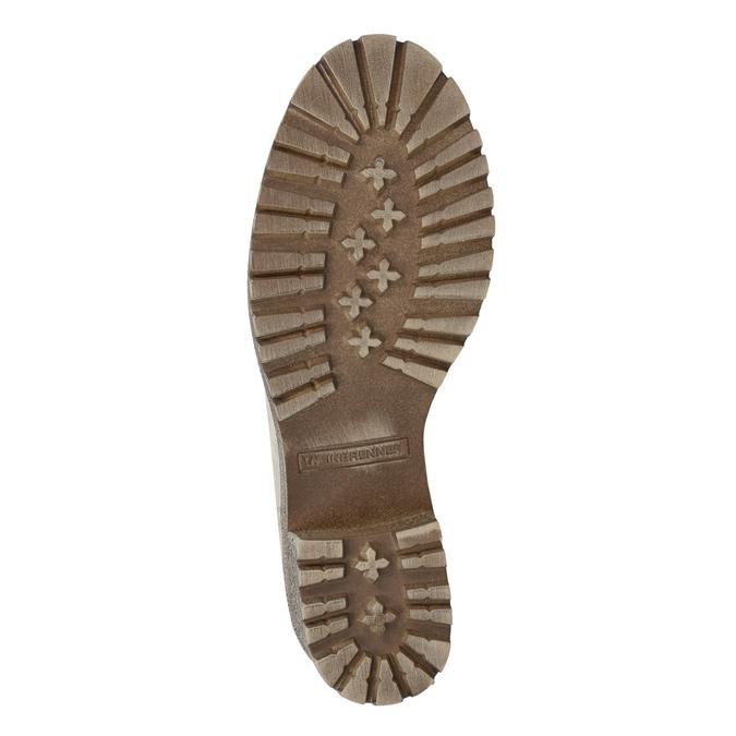 Skórzane buty zimowe zfuterkiem weinbrenner, beżowy, 696-3336 - 18