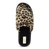 Domowe klapki damskie wpanterkę bata, brązowy, 579-8639 - 17