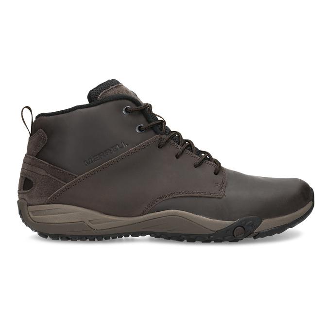 Brązowe skórzane obuwie męskie za kostkę merrell, brązowy, 806-4102 - 19