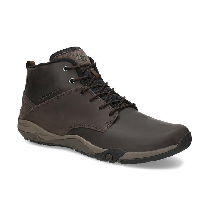 Brązowe skórzane obuwie męskie za kostkę merrell, brązowy, 806-4102 - 13