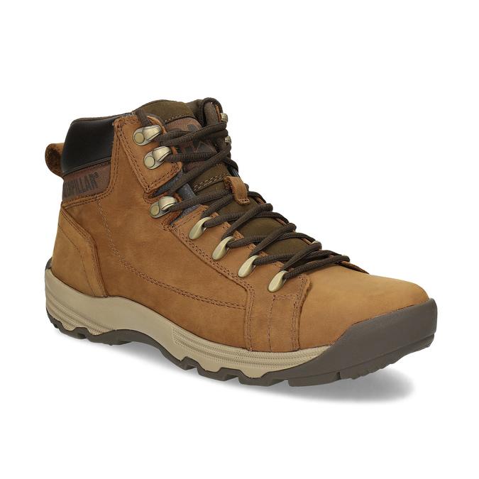 Brązowe skórzane obuwie męskie za kostkę caterpillar, brązowy, 806-3107 - 13