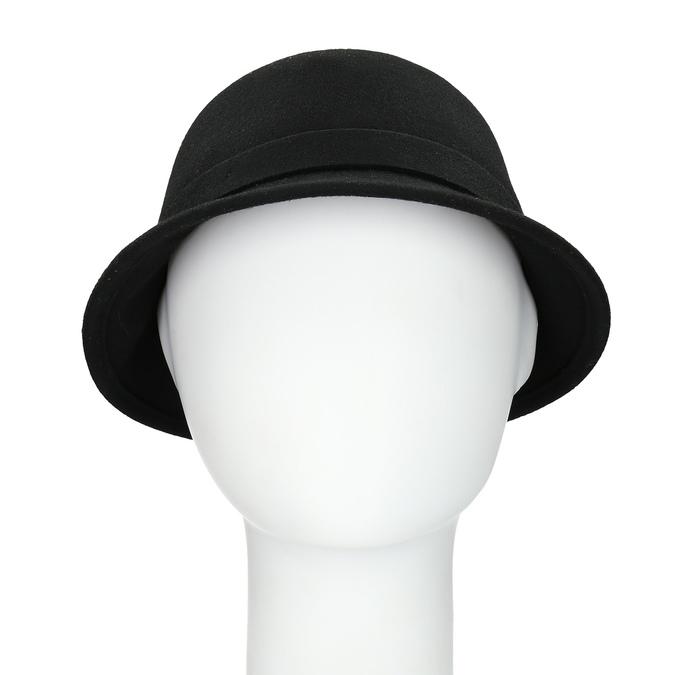 Czarny kapelusz damski zperełkami bata, czarny, 909-6283 - 16