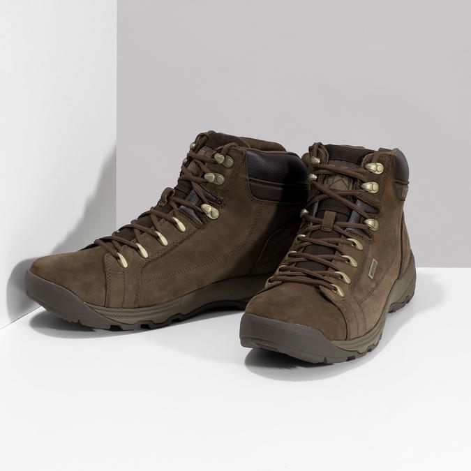 Brązowe skórzane obuwie męskie wstylu outdoor caterpillar, brązowy, 806-4108 - 16