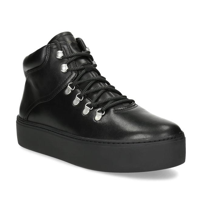 Zimowe skórzane obuwie damskie vagabond, czarny, 694-6018 - 13