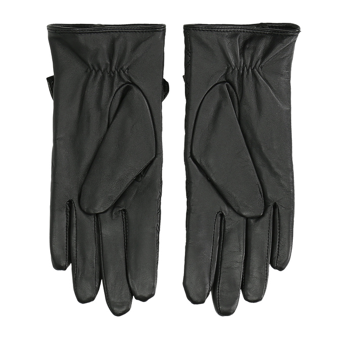 Pikowane skórzane rękawiczki damskie bata, czarny, 904-6139 - 16
