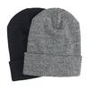 Dzianinowa czapka wywijana bata, multi color, 909-0490 - 13