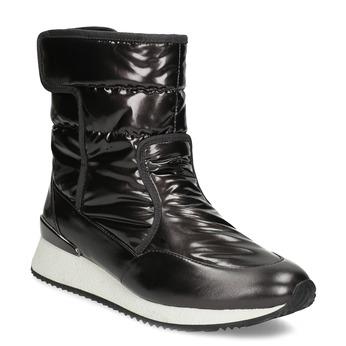 Damskie śniegowce metaliczne czarne bata, czarny, 599-6626 - 13