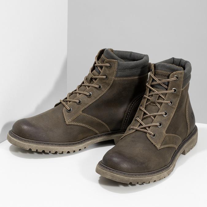 Brązowe zimowe obuwie męskie ze skóry weinbrenner, brązowy, 896-4693 - 16