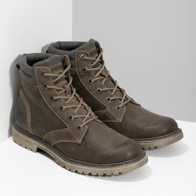 Brązowe zimowe obuwie męskie ze skóry weinbrenner, brązowy, 896-4693 - 26