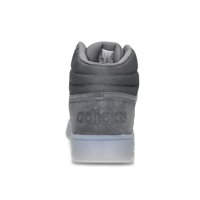 Szare skórzane trampki męskie za kostkę adidas, szary, 803-2118 - 15