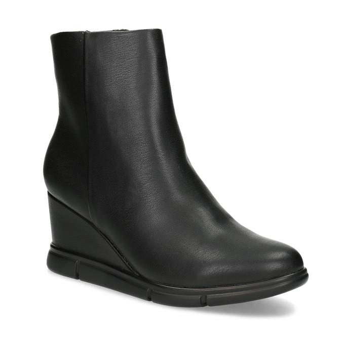 Czarne botki damskie na koturnach bata-b-flex, czarny, 791-6630 - 13