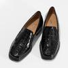Loafersy damskie zlakierowanej skóry gabor, czarny, 618-6048 - 16