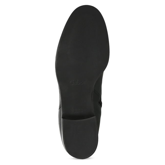 Czarne skórzane kozaki damskie gabor, czarny, 694-6179 - 18