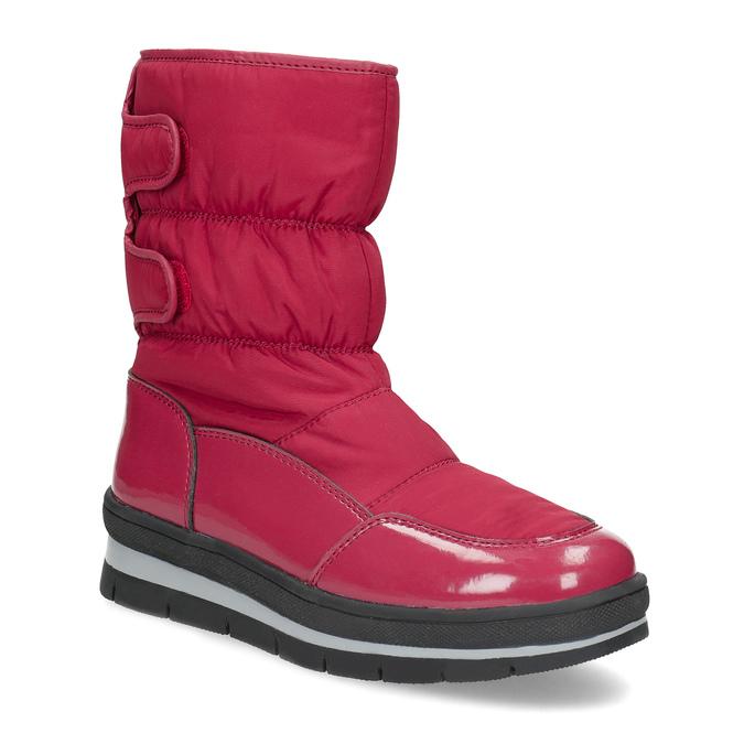 Czerwone śniegowce damskie na czarnej podeszwie bata, czerwony, 599-5625 - 13