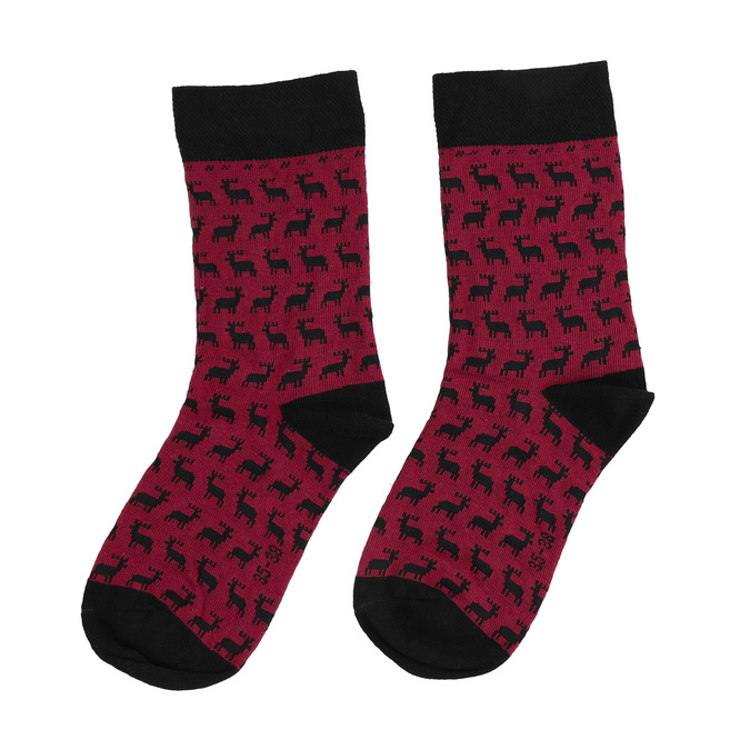 Skarpetki unisex wświąteczne motywy bata, czerwony, 919-5775 - 26
