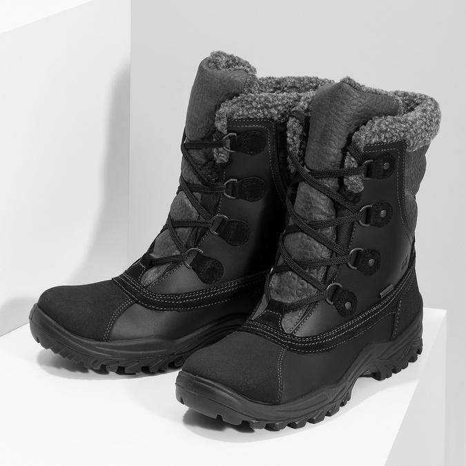 Zimowe śniegowce męskie zociepliną weinbrenner, czarny, 896-6730 - 16
