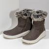 Brązowe skórzane śniegowce damskie weinbrenner, brązowy, 593-4603 - 16