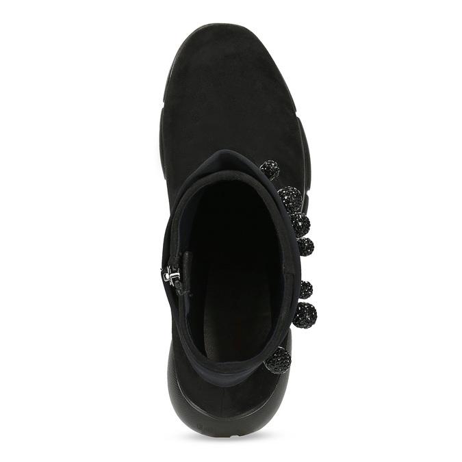 Czarne damskie zkryształkami bata-b-flex, czarny, 599-6603 - 17