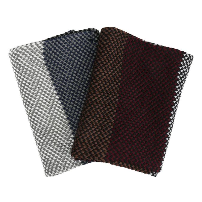 Dzianinowy szal męskie wpaski bata, multi color, 909-0692 - 13