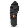 Skórzane półbuty damskie zćwiekami flexible, czarny, 514-6147 - 18