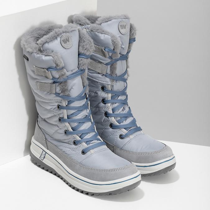 Granatowe śniegowce damskie zociepliną weinbrenner, szary, 599-9631 - 26
