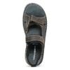 Beżowe skórzane sandały męskie na rzepy weinbrenner, brązowy, 866-2644 - 17
