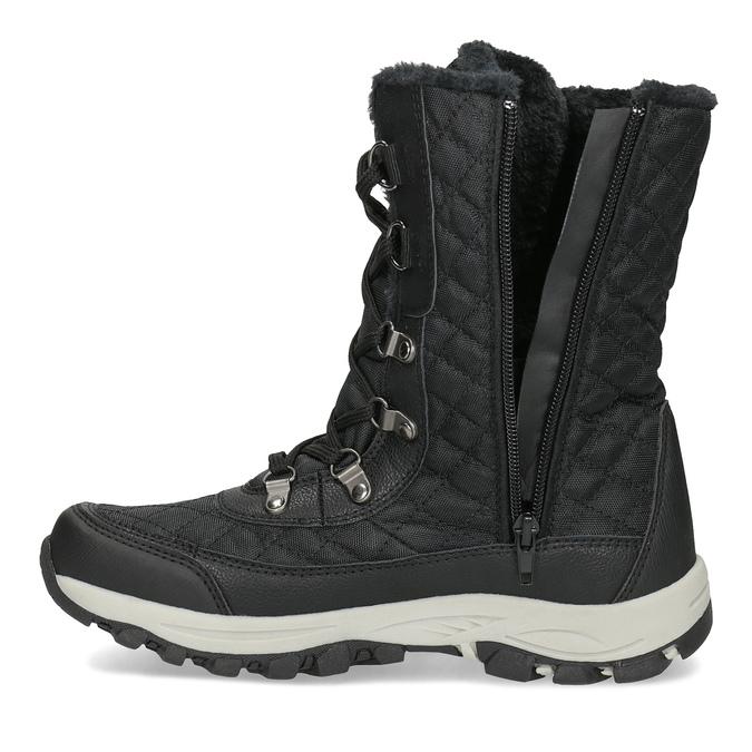 Pikowane zimowe śniegowce damskie bata, czarny, 599-6623 - 17