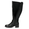 Czarne kozaki damskie zklamrami bata, czarny, 691-6644 - 17