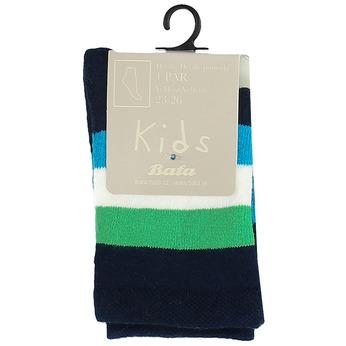 Długie skarpetki dziecięce wpaski bata, zielony, 919-7688 - 13