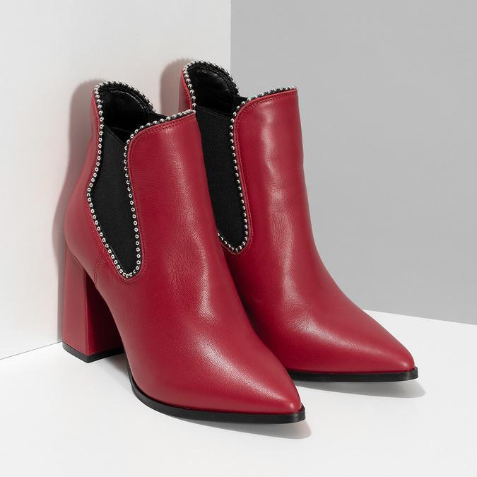 Czerwone botki typu chelsea bata, czerwony, 794-5609 - 26