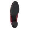 Czerwone skórzane botki zklamrami bata, czerwony, 794-5608 - 18