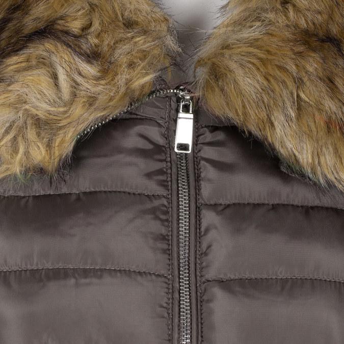 Pikowana kurtka damska zfuterkiem bata, brązowy, 979-8325 - 16