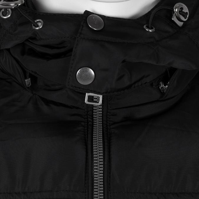 Czarna kurtka męska zkapturem bata, czarny, 979-6387 - 16